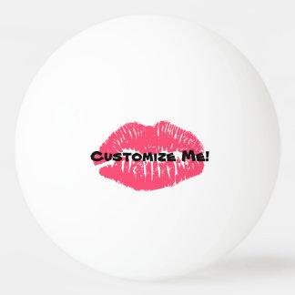 Balle Tennis De Table Rouge à lèvres personnalisable de puanteur de
