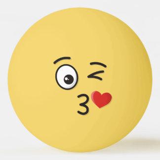 Balle Tennis De Table Visage jetant un baiser
