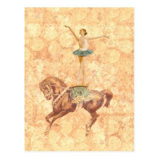 Ballerine à cheval carte postale