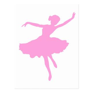 Ballerine de danse dans le rose cartes postales