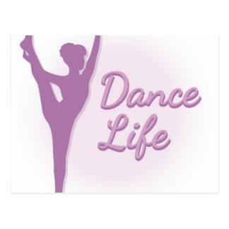 Ballerine de la vie de danse - pourpre - cartes postales