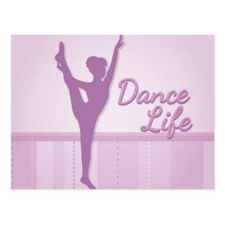 Ballerine de la vie de danse - pourpre - carte postale
