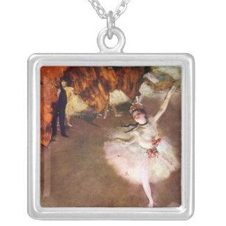Ballerine de Prima, Rosita Mauri par Edgar Degas Pendentif Carré