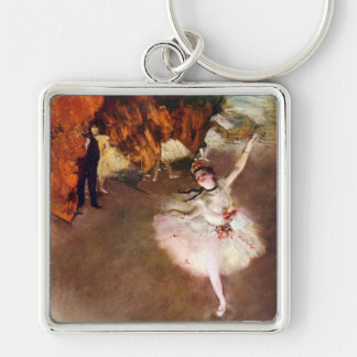 Ballerine de Prima, Rosita Mauri par Edgar Degas Porte-clé Carré Argenté