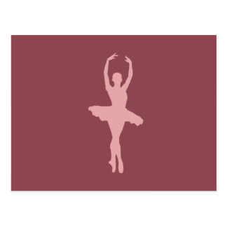 Ballerine rose de danse cartes postales