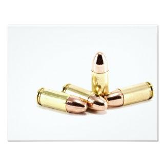 balles de 9mm carton d'invitation 10,79 cm x 13,97 cm