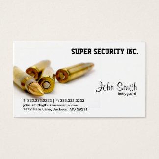 Balles de garde du corps de sécurité cartes de visite