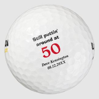 Balles De Golf Anniversaire environ 50 de Puttin personnalisé