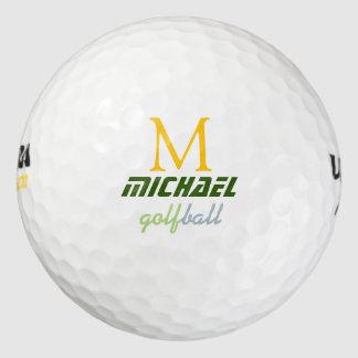Balles De Golf boule de golf avec le monogramme élégant