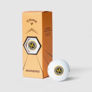 Balles De Golf boule de golf avec le monogramme élégant de cercle
