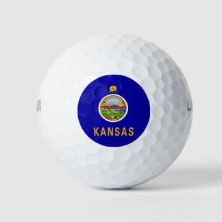 Balles De Golf Boule de golf de Wilson avec le drapeau du Kansas,
