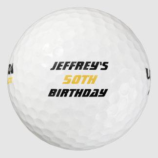 Balles De Golf Boule de golf personnalisée, cinquantième