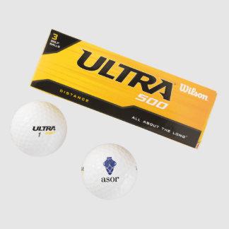 Balles De Golf Boules de golf d'ASOR (2-pack)