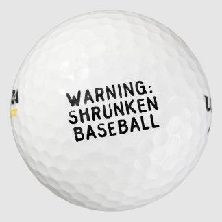 """Balles De Golf Boules de golf """"de base-ball rétréci"""""""