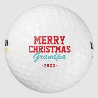 Balles De Golf Boules de golf de grand-papa de Joyeux Noël