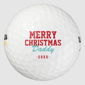 Balles De Golf Boules de golf de papa de Joyeux Noël