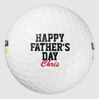 Balles De Golf Boules de golf décorées d'un monogramme de fête