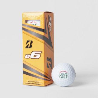 Balles De Golf Boules de golf personnalisées d'amour de