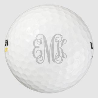 Balles De Golf Boules de golf personnalisées par monogramme gris
