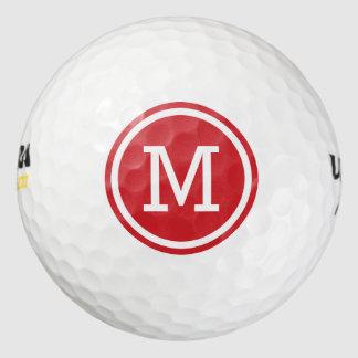 Balles De Golf Boules de golf personnalisées par monogramme rouge