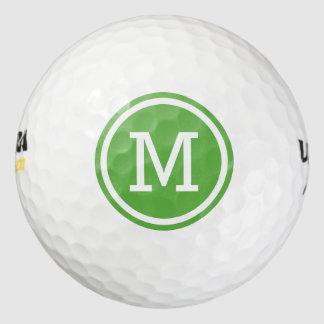 Balles De Golf Boules de golf personnalisées par monogramme vert