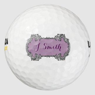 Balles De Golf Cadeau de golf personnalisé par monogramme vintage
