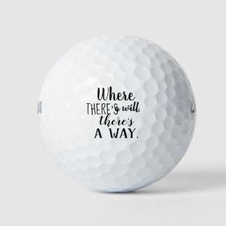 Balles De Golf Citation inspirée de motivation indiquant la