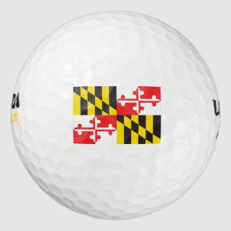 Balles De Golf Drapeau du Maryland