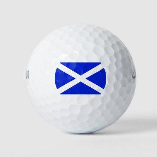 Balles De Golf Drapeau écossais sur des boules de golf