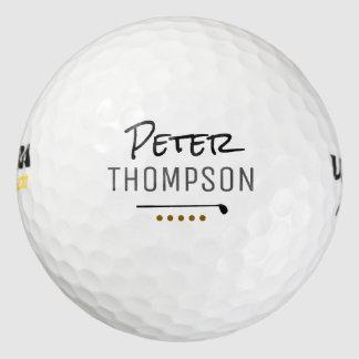 Balles De Golf golf_balls nommés de monogramme pour des