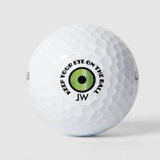 Balles De Golf Golfeur de monogramme - gardez votre oeil sur la