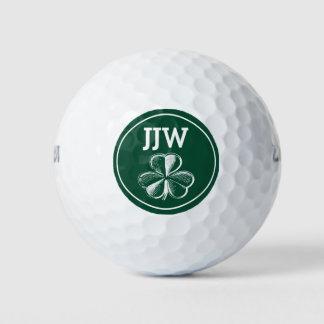 Balles De Golf Golfeurs de vert de shamrock de monogramme
