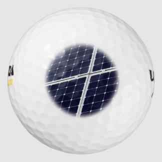 Balles De Golf Image d'un panneau d'énergie solaire drôle