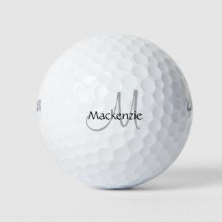Balles De Golf Initiale chic du jeu | de monogramme de manuscrit