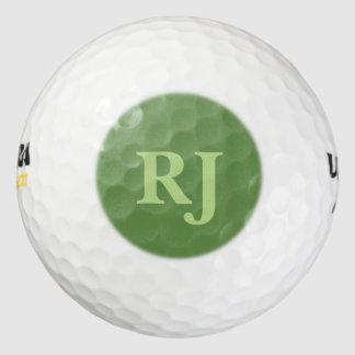 Balles De Golf Initiales décorées d'un monogramme vertes