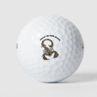 Balles De Golf Insecte très venimeux toxique en bronze de
