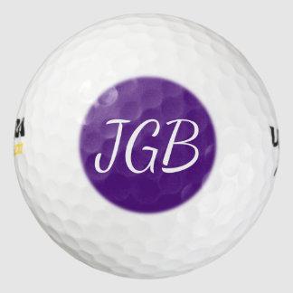 Balles De Golf La boule de golf décorée d'un monogramme