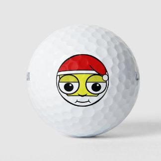 Balles De Golf Le père noël font face