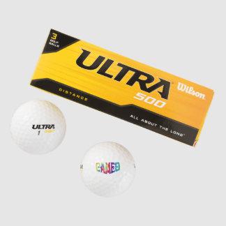 Balles De Golf Les boules de golf avec teignent en nouant le logo