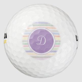 Balles De Golf Lignes d'aquarelle de monogramme
