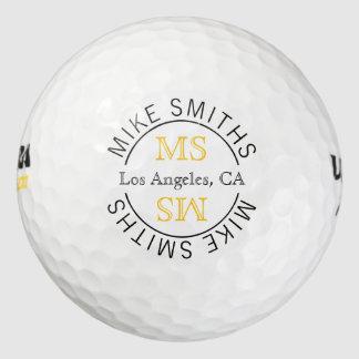 Balles De Golf monogramme de golf-joueur de logo de cercle