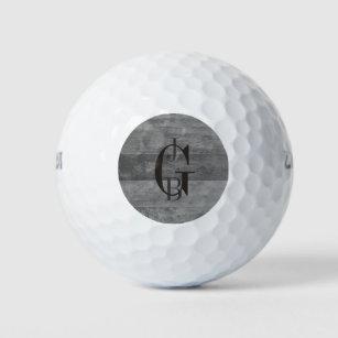 Balles De Golf Nuances des rayures grises d'Ombre