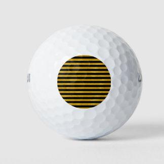 Balles De Golf Rayure élégante d'or - coutume votre couleur