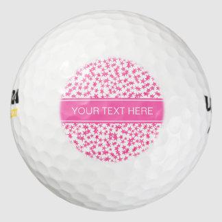 Balles De Golf Roses indien 2 étoiles BG blanche, monogramme