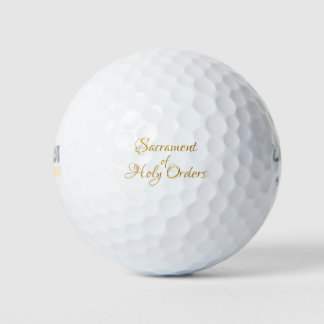 Balles De Golf Sacrement du regard 3D d'or d'ordres saints