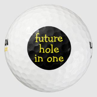 Balles De Golf Trou drôle dans des boules d'un golf