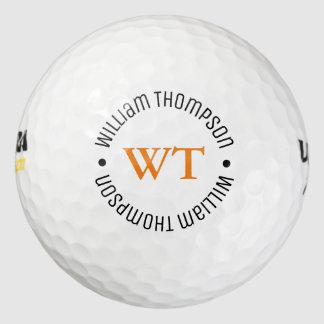 Balles De Golf une boule de golf avec le nom (monogramme de