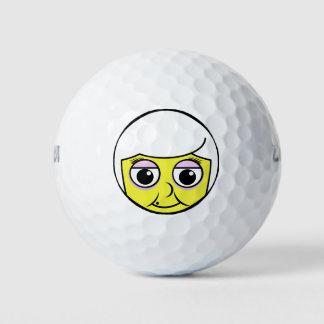 Balles De Golf Visage de grand-maman