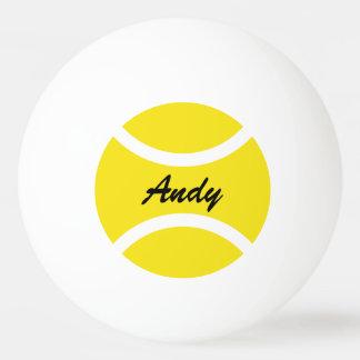Balles de tennis nommées personnalisées de table balle de ping pong