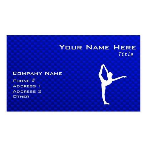 Ballet bleu modèles de cartes de visite